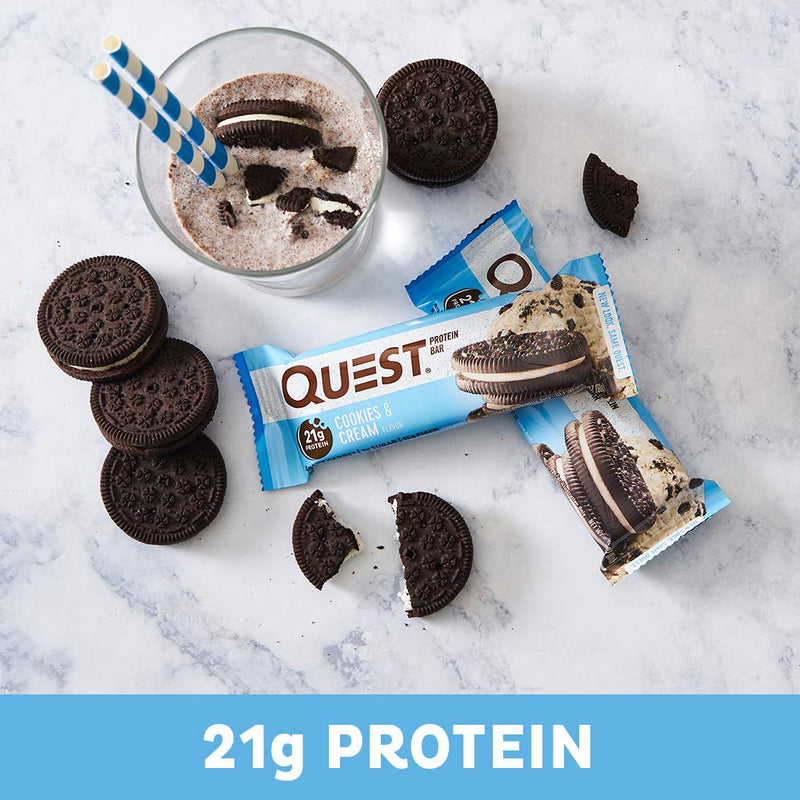 Quest Nutrition QuestBar Protein Bar Cookies & Cream 12 Bars