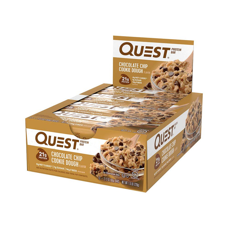 Quest Nutrition QuestBar Protein Bar Chocolate Chip Cookie Dough 12 Bars