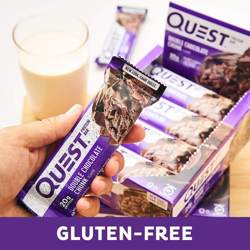 Quest Nutrition QuestBar Protein Bar Double Chocolate Chunk 12 Bars