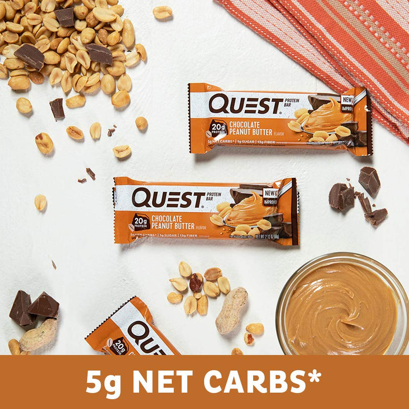 Quest Nutrition QuestBar Protein Bar Chocolate Peanut Butter 12 Bars