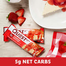 Quest Nutrition QuestBar Protein Bar Strawberry Cheesecake 12 Bars
