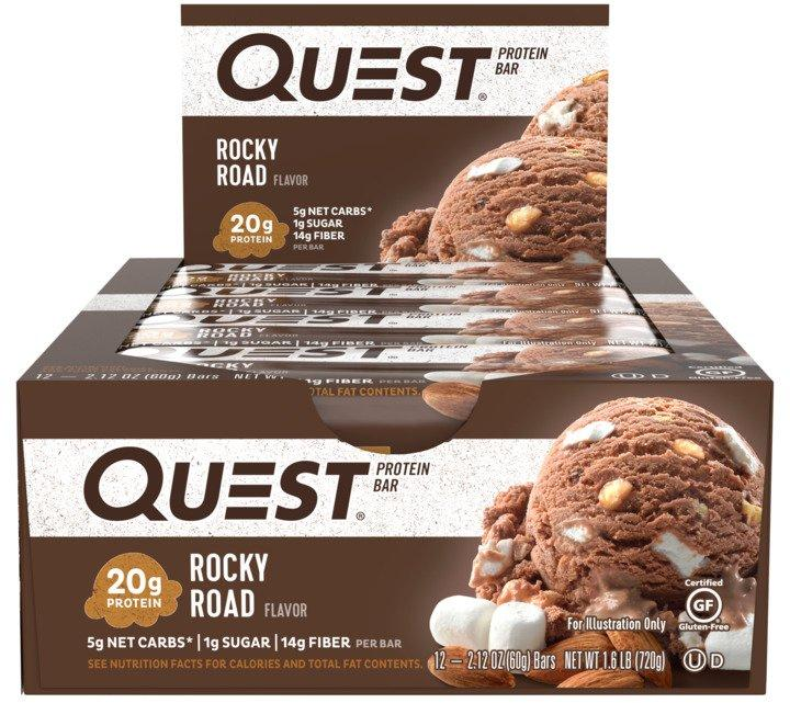 Quest Nutrition QuestBar Protein Bar Rocky Road 12 Bars