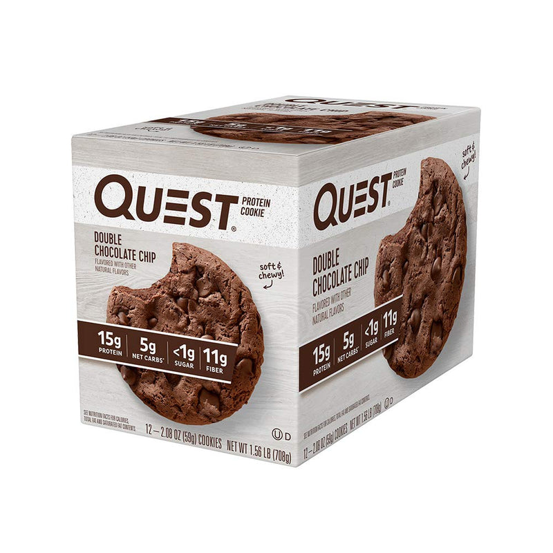 Quest Nutrition Protein Cookie Double Chocolate Chip 12 Cookies