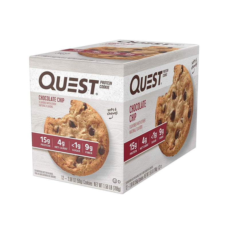 Quest Nutrition Protein Cookie Chocolate Chip 12 Cookies