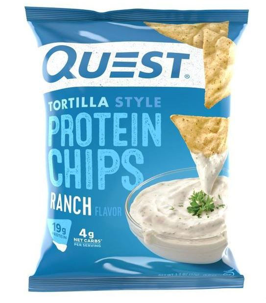 Quest Nutrition Tortilla Style Protein Chips Ranch 1.1 oz