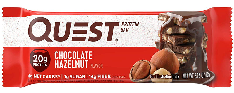 Quest Bar Protein Bar Chocolate Hazelnut 12 Bars
