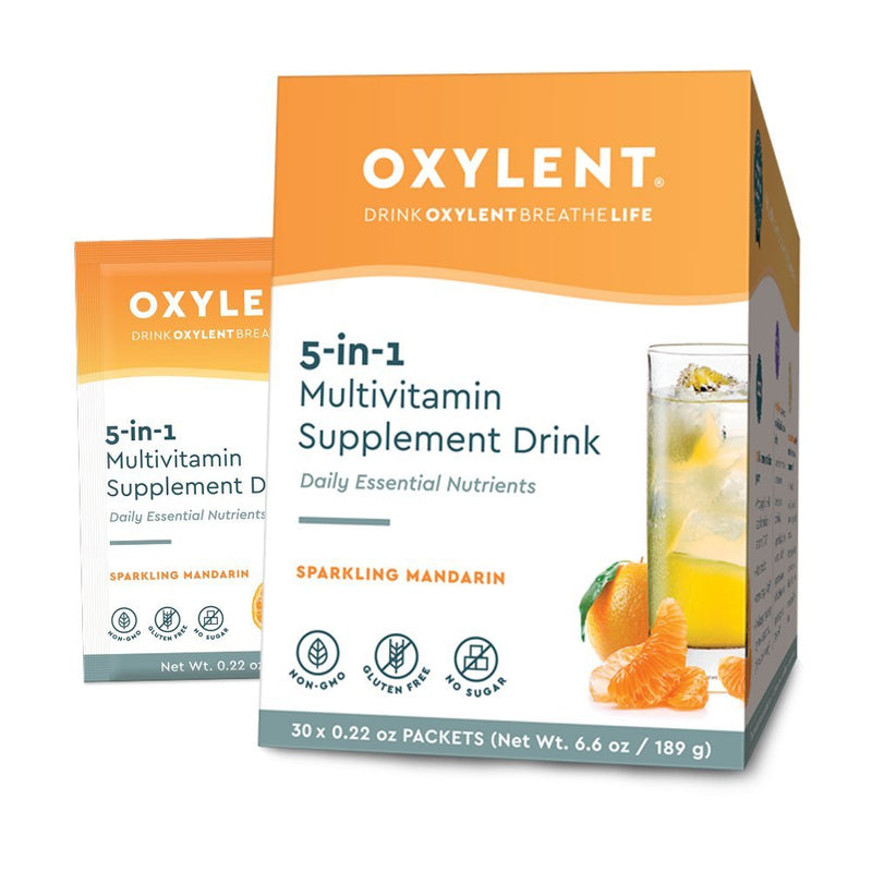 Oxylent Multivitamin Drink Sparkling Mandarin 30 Packets 6.9 oz