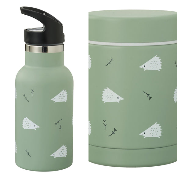 VOORDEELPAKKET thermos bottle and food jar Hedgehog