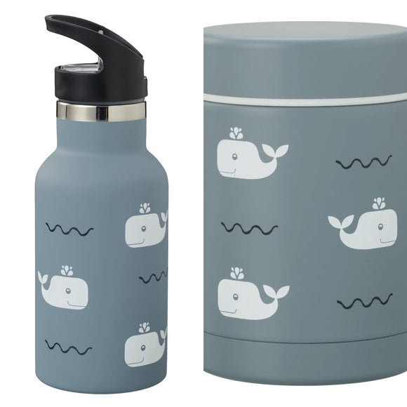 VOORDEELPAKKET thermos bottle and food jar Whale