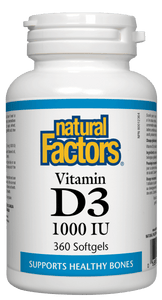 Natural Factors Vitamin D3 1000IU 360 Softgels