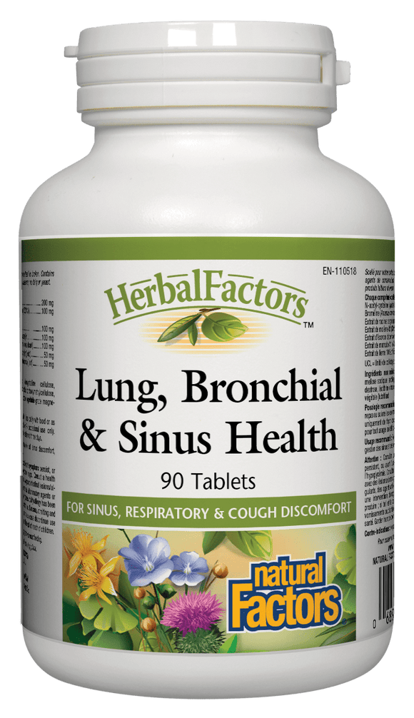 Natural Factors Lung Bronchial & Sinus 90 Tablets