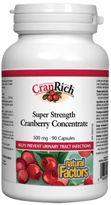 Natural Factors Cranberry Concentrate 500mg 90 Capsules