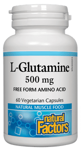 Natural Factors L Glutamine 500mg 60