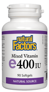 Natural Factors Vitamin E 400IU Mixed 90