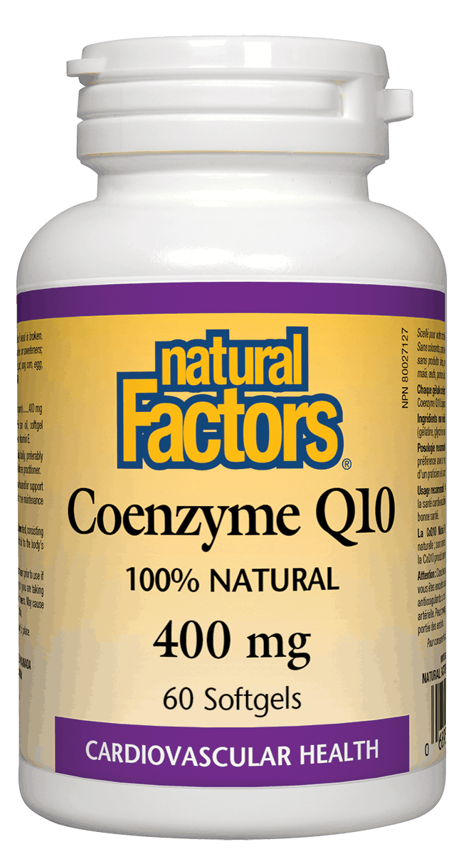 Natural Factors CoQ10 400mg 60 Softgels