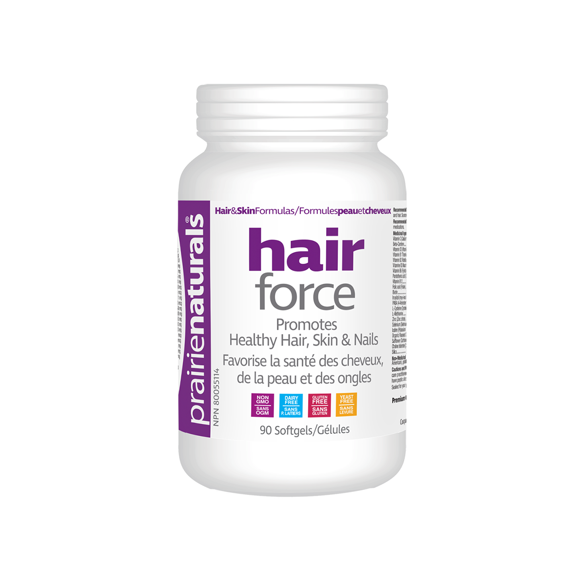 Prairie Naturals Hair Force 90 Softgels