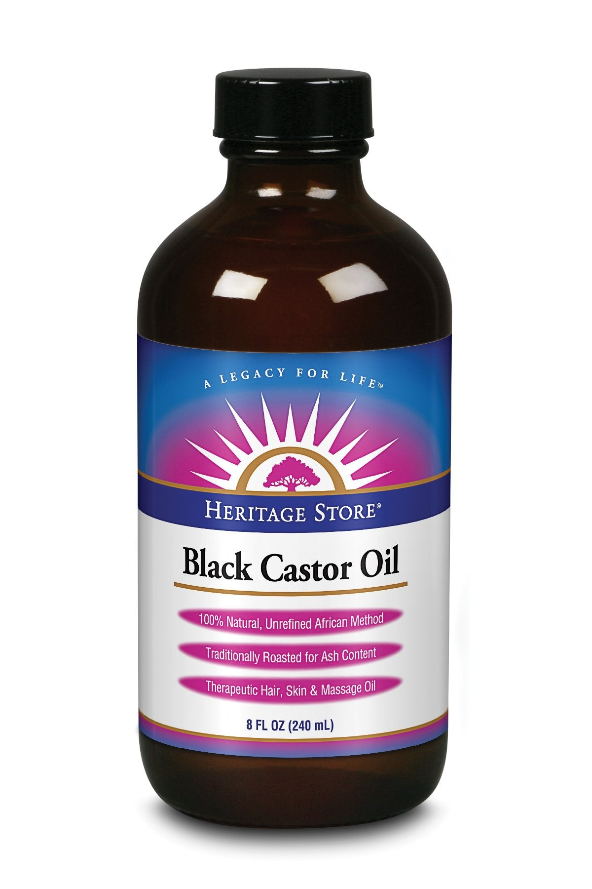 Heritage Black Castor Oil 237ml