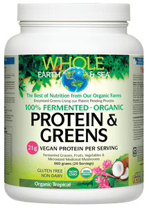 Whole Earth & Sea Protein & Greens Organic Tropical 660g
