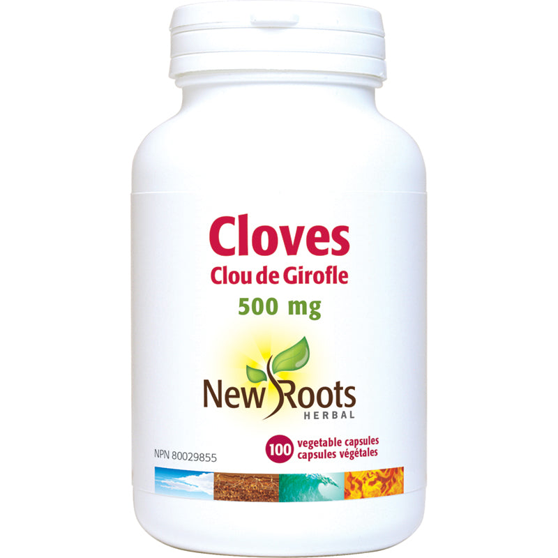 New Roots Cloves 500mg 100 Capsules