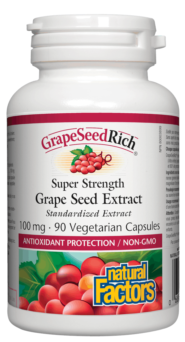 Natural Factors Grapeseed Extract 100mg 90 Capsules