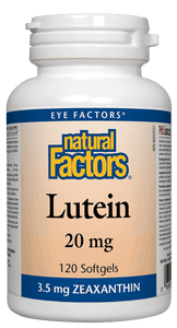 Natural Factors Lutein 20mg 120 Softgels