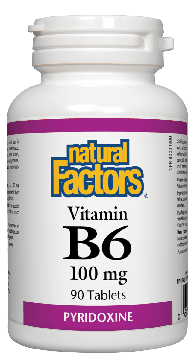 Natural Factors Vitamin B6 100mg 90 Tablets