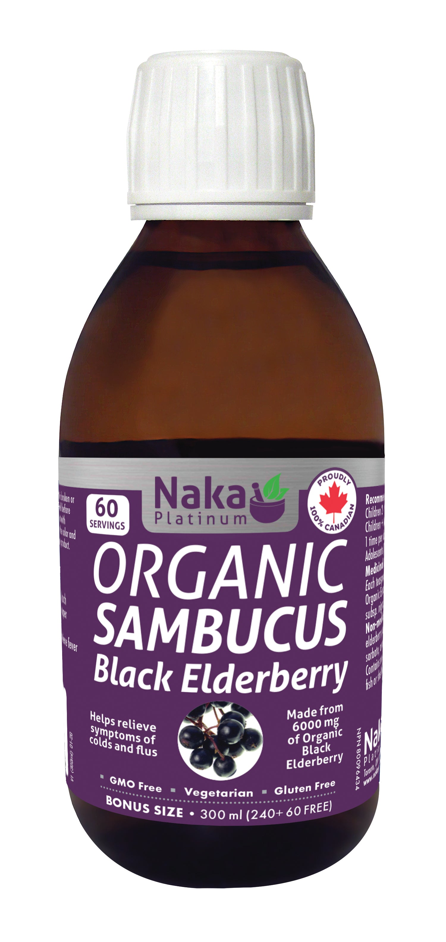 Naka Org Sambucus Elderberry 300ml