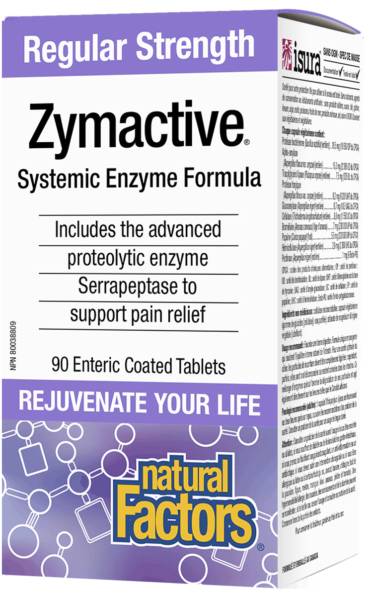 Natural Factors Zymactive Reg Strength 90 Tablets
