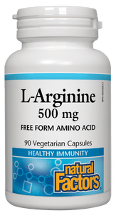 Natural Factors L Arginine 500mg 90 Capsules