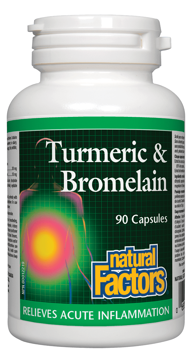 Natural Factors Turmeric & Bromelain 90 Capsules