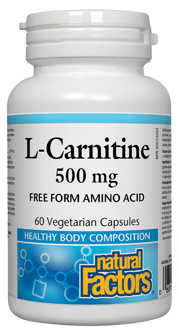 Natural Factors L Carnitine 500mg 60