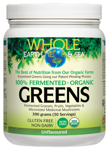 Whole Earth & Sea Greens Organic Unflavoured 390g