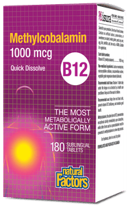 Natural Factors Vitamin B12 1000mcg 180 Tablets