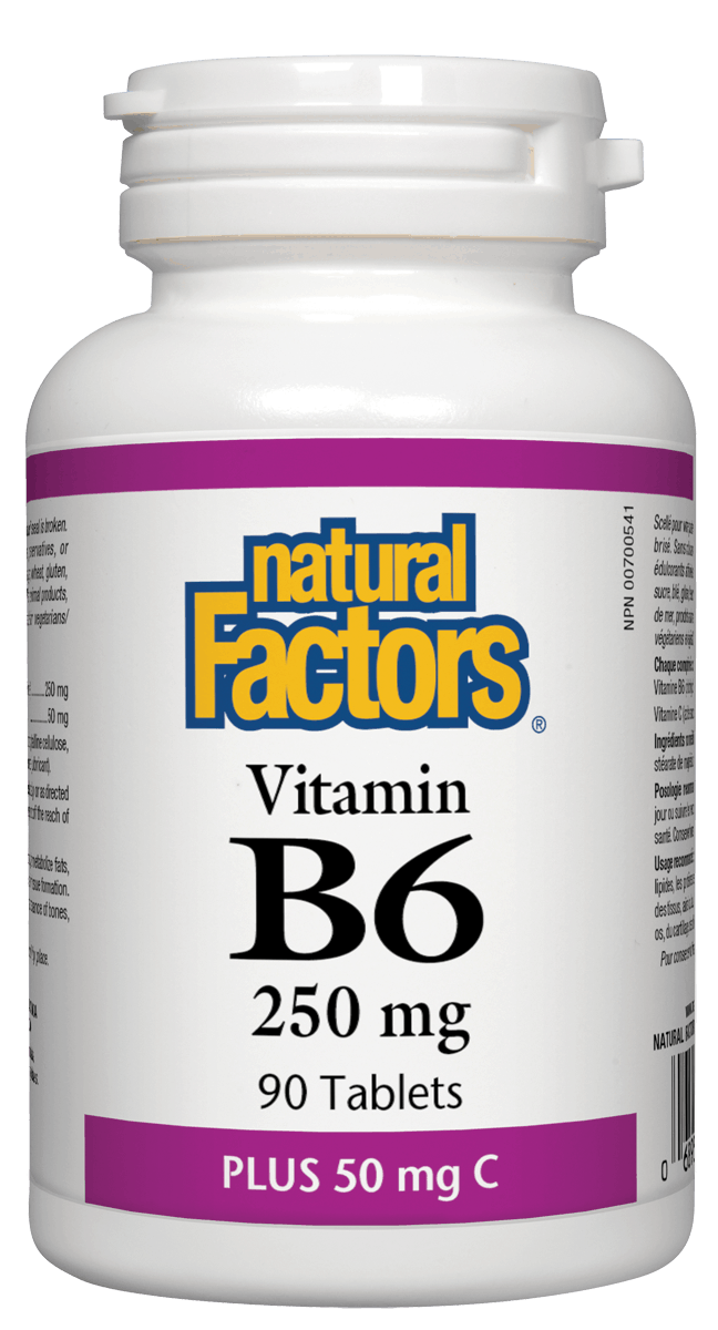 Natural Factors Vitamin B6 250mg + C 90 Tablets