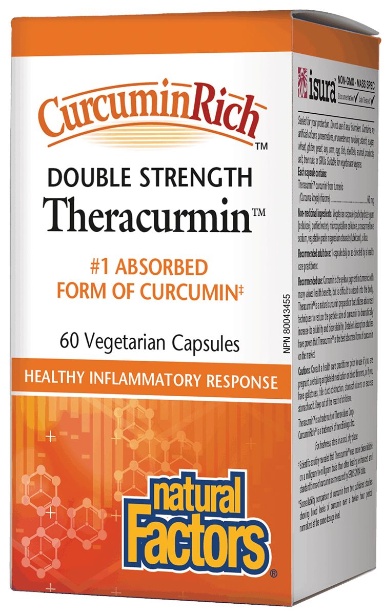 Natural Factors Theracurmin Double Strength 60 Capsules