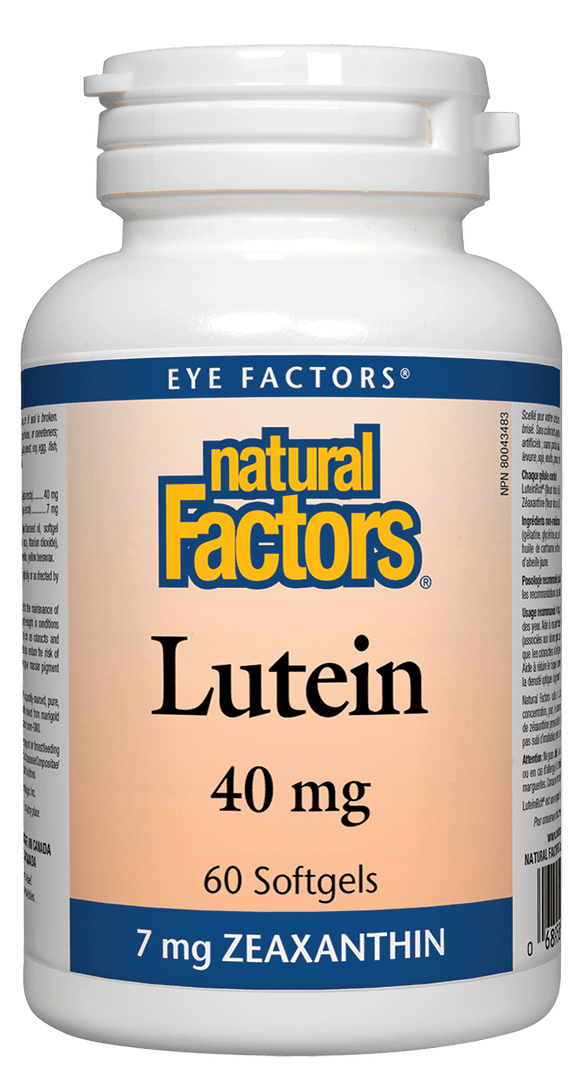 Natural Factors Lutein 40mg 60 Softgels