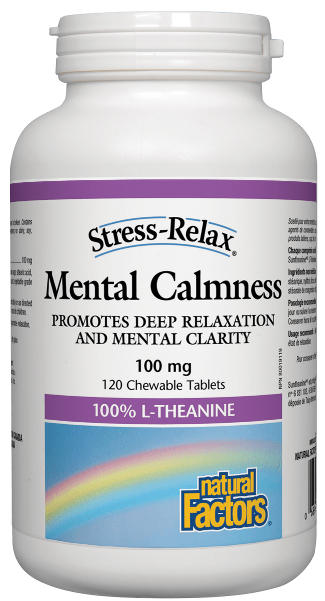 Natural Factors Mental Calmness 100mg 120 Chewable