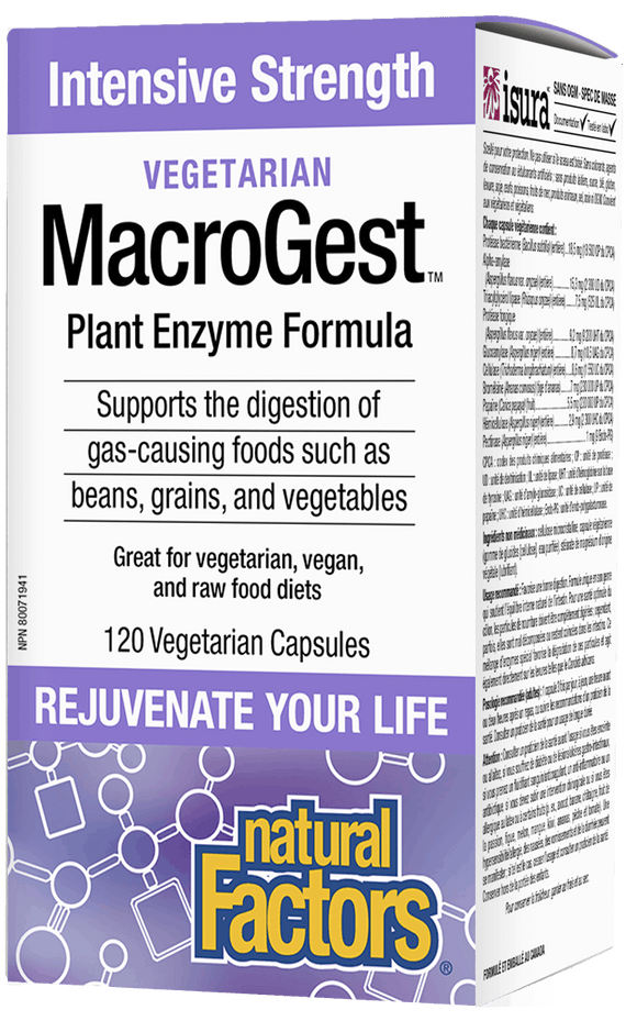 Natural Factors MacroGest Vegetarian Enzymes 120 Capsules