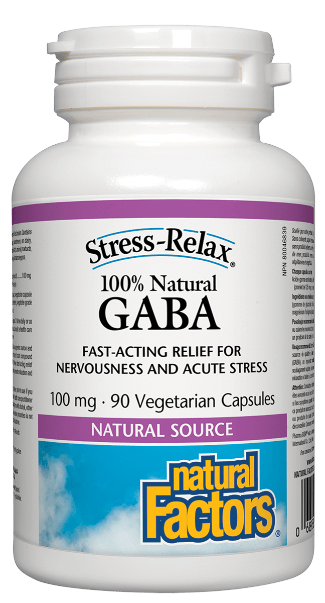 Natural Factors GABA 100mg 90 Capsules