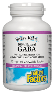 Natural Factors GABA Chewable 100mg 60 Chewable