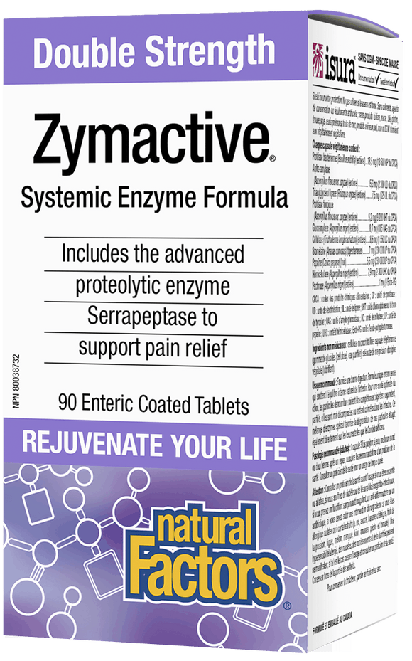 Natural Factors Zymactive Enzyme Double Str 90 Tablets