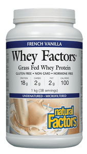 Natural Factors Whey Factors French Vanilla 1kg