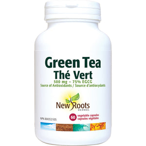 New Roots Green Tea 500mg 60 Capsules