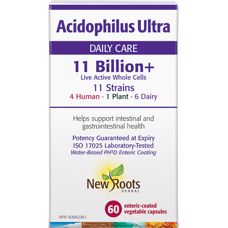 New Roots Acidophilus Ultra 11billion 60 Capsules
