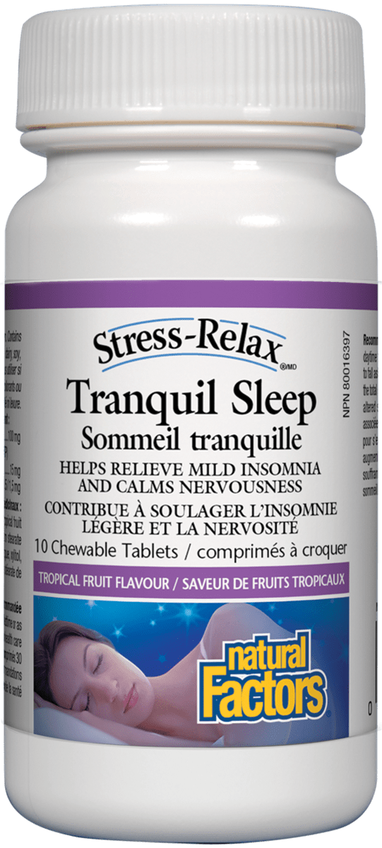 Natural Factors Tranquil Sleep 10 Chewable