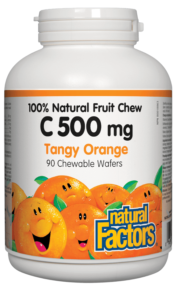 Natural Factors Vitamin C 500mg Orange 90 Chewable