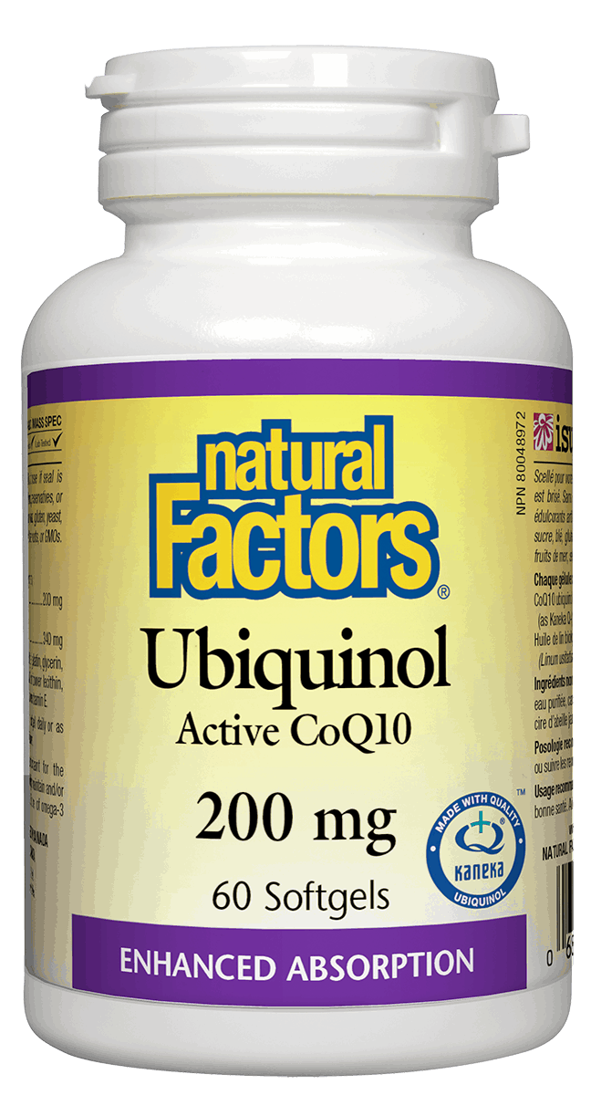 Natural Factors Ubiquinol CoQ10 200mg 60 Softgels