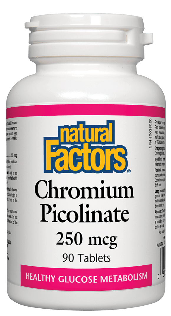 Natural Factors Chromium Picolinate 90s 250mcg Tablets