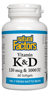 Natural Factors Vitamin K&D 60 Softgels