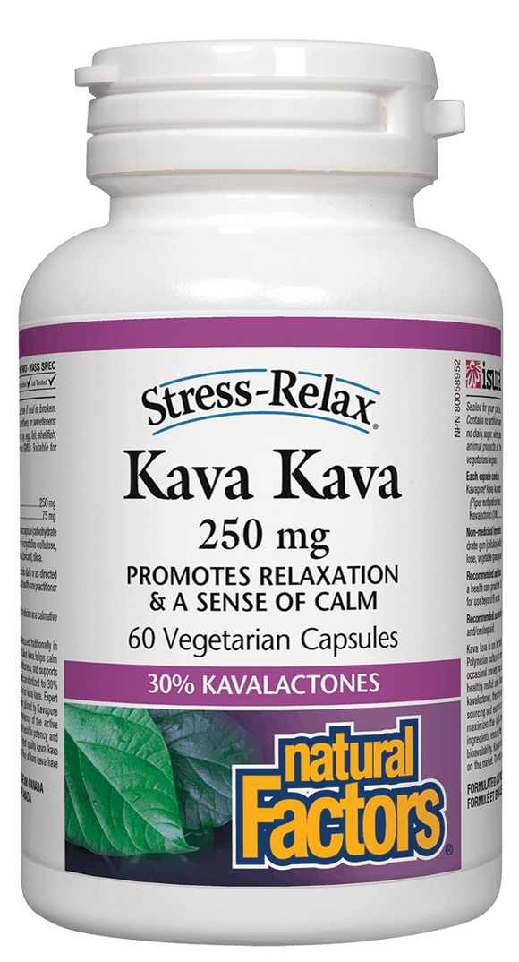 Natural Factorsc Kava Kava 250mg 60 Capsules